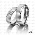Argollas De Matrimonio O Compromis En Plata 950 Y Zircon C/u