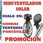 I Ventilador Solar Pa Gorras Portatiles Promocion Abanico