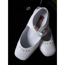 Zapatos Niña Talla 29 Lindos Diseño Exclusivo Zandra Blancos