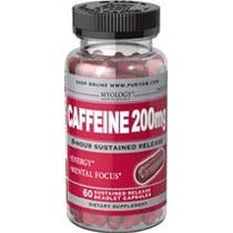 Cafeina Energizante Liberacion Lenta 8 Horas 60 Caps 200mg