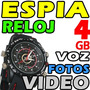 Reloj 4gb Camara Video Fotos Audio Espia Oculta Memoria Dvr