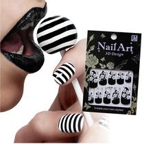 ¡ Kit Esmalte Autoadhesivo Patch Nail Stickers Art Ref 01 !!
