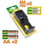 Cargador De Baterias G P Power Bank+2 Baterias A A + 2 A A A
