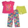Pijama Carter`s  3 Piezas Niña Talla 24 Meses Ropa Carter`s