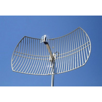 Antena 2.4ghz 24dbi Grilla Enlaces Wifi Enlaces Qpcom Qp2424