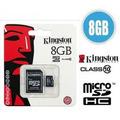 Memoria Kingston Micro Sd Hc 8gb Clase 10 Graba Full Hd