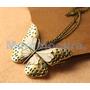 Dije Y Collar Retro De Mariposa Espectacular Y Precioso