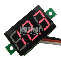 Mini Voltímetro Digital 0-99v Dc Led Rojo Autos Motos Panel