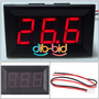 Voltímetro Display Digital Dc De 4.5 A 30 V Leds Rojos
