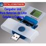 Cargador Usb Universal Para Bateria Litio De Camara  Celular