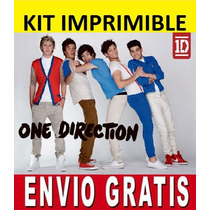 Kit Imprimible One Direction Diseñá Tarjetas E Invitaciones