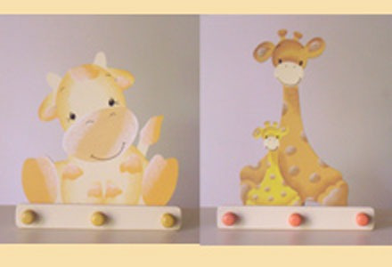 Perchero hogar decoracion infantil arte country madera for Decoracion hogares infantiles
