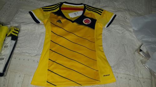 Camiseta Selección Colombia adidas Auténtica Para Mujer f3c8645a7d9e9