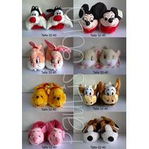 Babuchas Hello Kitty, Winnie Pooh,silvestre, Muñecos Disney,