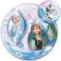 Globo Burbuja Frozen Elsa Y Anna 56cm Para Inflar Con Helio