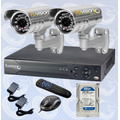 Kit Video Vigilancia Cctv Dvr 4 Canales+disco Duro+ Camaras
