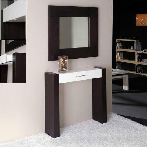 Consola recibidor moderno con cajon ref ceraty muebles - Consolas recibidor modernas ...