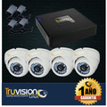 Cctv Kit Video Vigilancia Dvr 4 Ch + 4 Cámaras De Seguridad