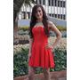 Vestido Corto Dama Importado Negro - Rojo - Gala Y Playa
