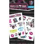Monster High Tattoo - Paquete 1 Childrens Niños Cuerpo Temp