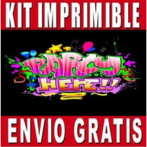 Kit Imprimible Fashion Party Diseña Invitaciones Y Tarjetas