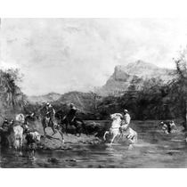 Poster (46 X 61 Cm) Arabs Crossing A Ford Eugene Fromentin