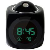 Reloj Despertador Digital Alarma Lcd Proyector Hora En Techo