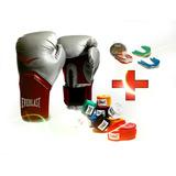 Guantes De Boxeo Everlas + Vendas 120 Ev + Protector Bucal