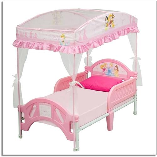Cama cuna para nina bebe de disney princesa con carpa - Cama princesa nina ...