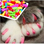 Protector De Uñas Para Gato Nail Caps X20 + Adhesivo