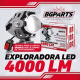 Exploradora Led Moto 40w 4000 Lumens Ojo De Ángel Blanco