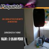 Sonido Luces Fiesta Dj Locucion Perifo Foto Cabina Inflables