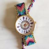 Reloj Tejido A Mano Con Diseño Atrapa Sueño Foto Real Promo