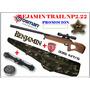Kit Rifle De Aire Benjamin Np2 Calibre 5.5 + Mira 3-9x32 +