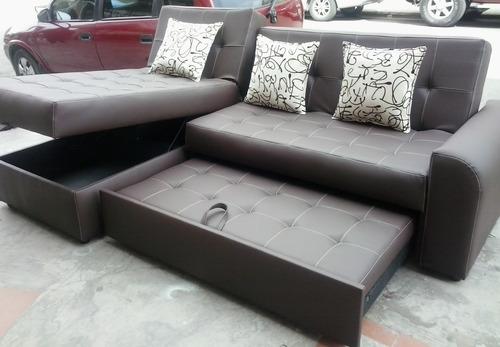 Sala moderna sofa cama con baul puff baul mesa envio for Comedores bogota precios