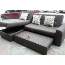Sala Moderna Sofa Cama Con Baul, Puff Baul Mesa Envio Gratis