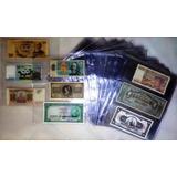 Hoja Acetato Para Coleccionar 3 Billetes Tamaño Carta Oferta