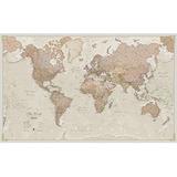 Mapa Mundi Gigante, Antiguo, Laminado, Encapsulado, De 775 X