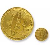 Bitcoin Moneda Conmemorativa Coleccionable  Física Dorada