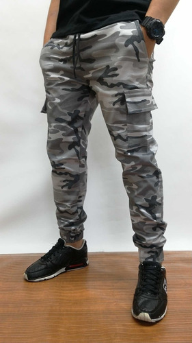 1b1525b7ff64c Jogger Camuflado Dril - Pantalon Dril Jogger