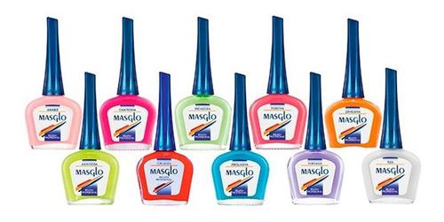 163eb520fe Masglo Esmalte 13,5ml Colores Variados 12 Unidades