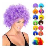 Peluca Afro Colores Fiesta Disfraz Party Halloween Cabello