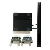 Soporte Base Acrilico Pared Para Ps4+2soportes De Control