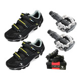 Combo Zapatilla Ciclismo Gw Pedal Shimano M520 Mtb Promoción