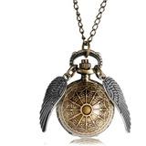 Reloj Snitch Dorada Harry Potter Cadena Textura Bronce