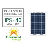 Panel Solar Policristalino 40w 12v - Inti