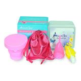 2 Copa Menstrual Aneer +vaso Esterilizador+limpiador+estuche