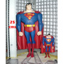 Superman Super Grande 25 Centímetros, Capa De Goma