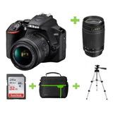 Camara Nikon D3500 18-55 +32gb+bolso+ Lente 70-300 +tripode