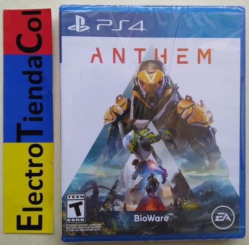 Anthem Ps4 Físico Nuevo Sellado Español